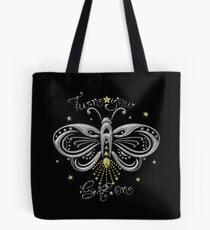 Glühwürmchen Motte Tattoo Turn Your Light On Tote Bag