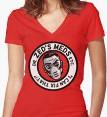 Zed's Meds Women's Fitted V-Neck T-Shirt