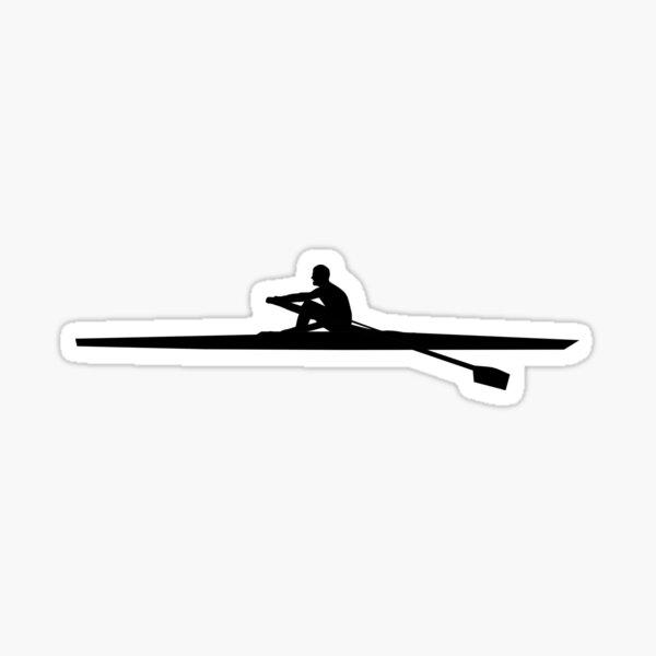 Rowing Man Sticker