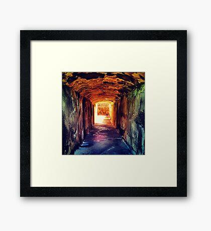 Super Tunnel  Framed Print