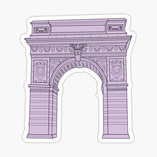 NYU Washington Square Arch Purple Sticker