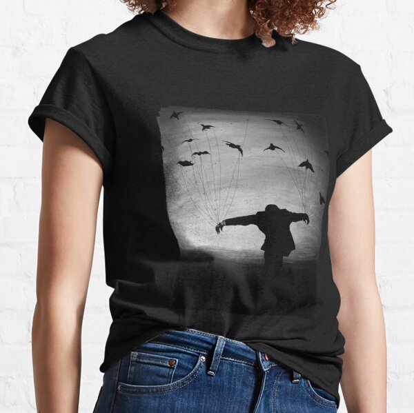 Man in Flight With Crows Classic T-Shirt