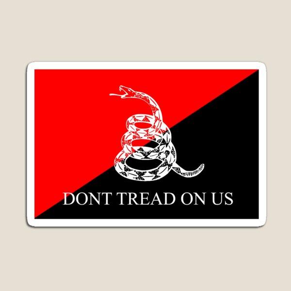 Anarcho-Communist Gadsden Flag Magnet