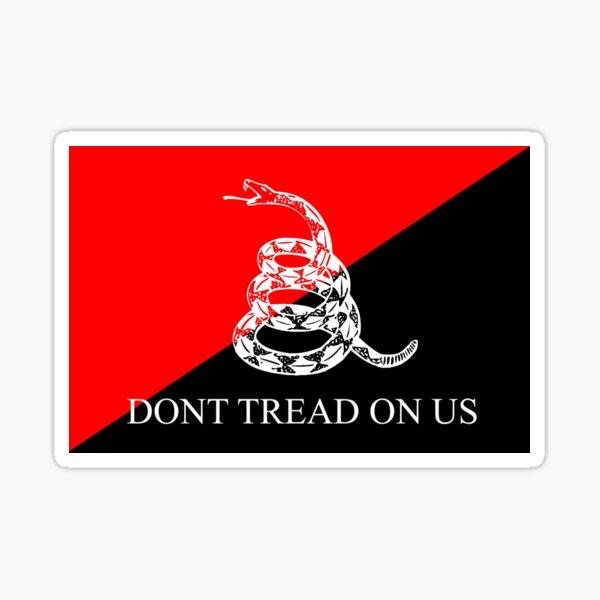 Bandera anarcocomunista de Gadsden Pegatina