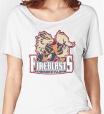 Cinnabar Island Fire Blasts: Arcanine Sport Logo Women's Relaxed Fit T-Shirt