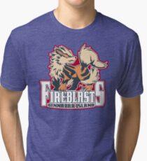 Cinnabar Island Fire Blasts: Arcanine Sport Logo Tri-blend T-Shirt