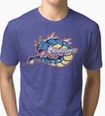 Cerulean City Hydro Pumps: Gyarados Sport Logo Tri-blend T-Shirt
