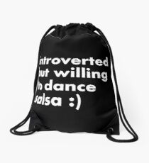 Introvertido/introvertida pero dispuesto a bailar salsa Mochila saco