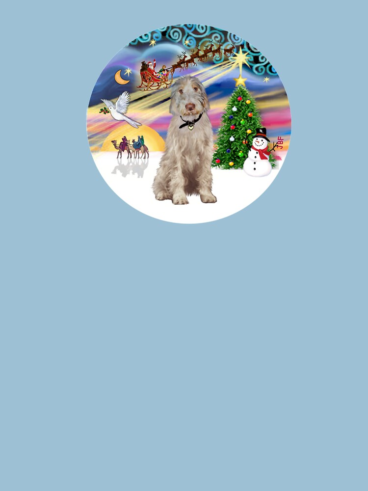Christmas Magic with an Italian Spinone (orange and white) by JeanBFitzgerald