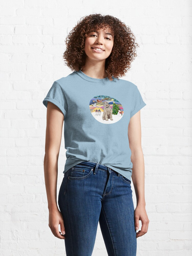 Alternate view of Christmas Magic with an Italian Spinone (orange and white) Classic T-Shirt