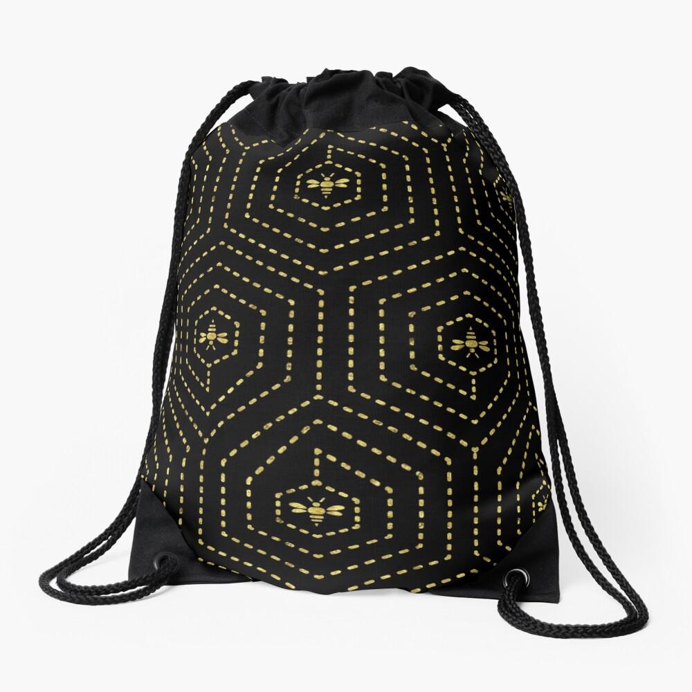 Honeycomb Home Drawstring Bag