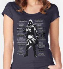 Edward Kenway Quotes Women's Fitted Scoop T-Shirt
