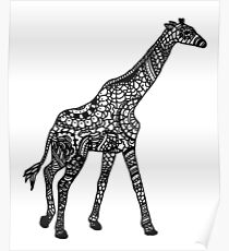 Printed Giraffe Poster