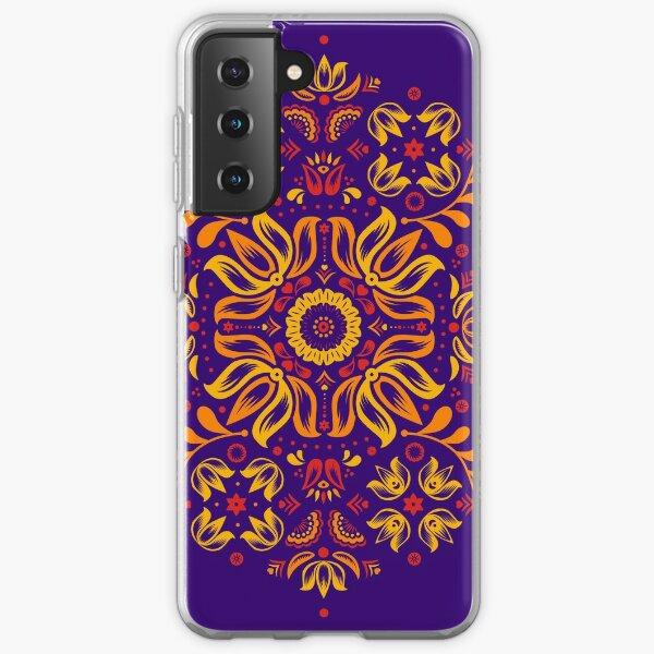 Fiery Floral Folk Pattern Samsung Galaxy Soft Case
