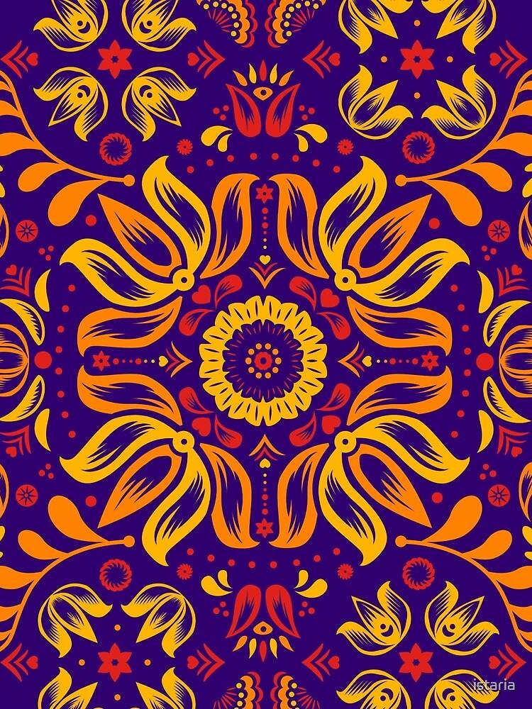 Feurige Floral Folk-Muster von istaria