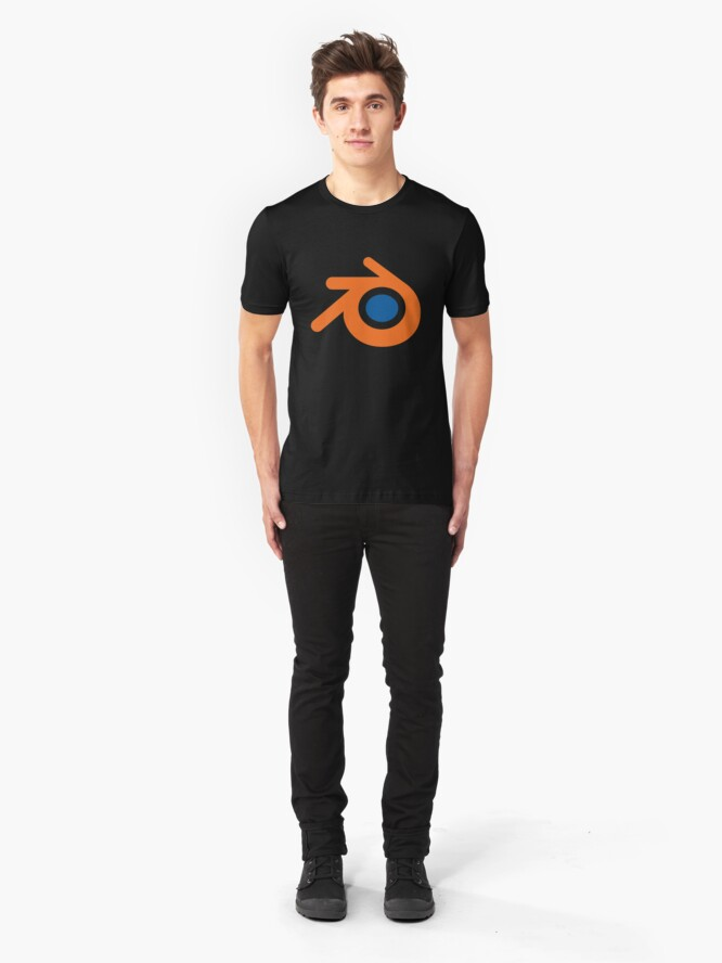 Alternate view of 3D Cad/Cam/Cae Blender Designer Slim Fit T-Shirt
