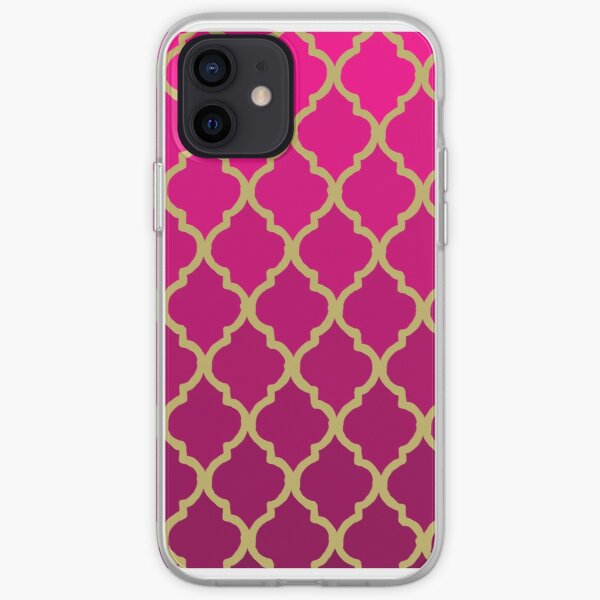 Moroccan Pattern - Pink & Gold iPhone Soft Case