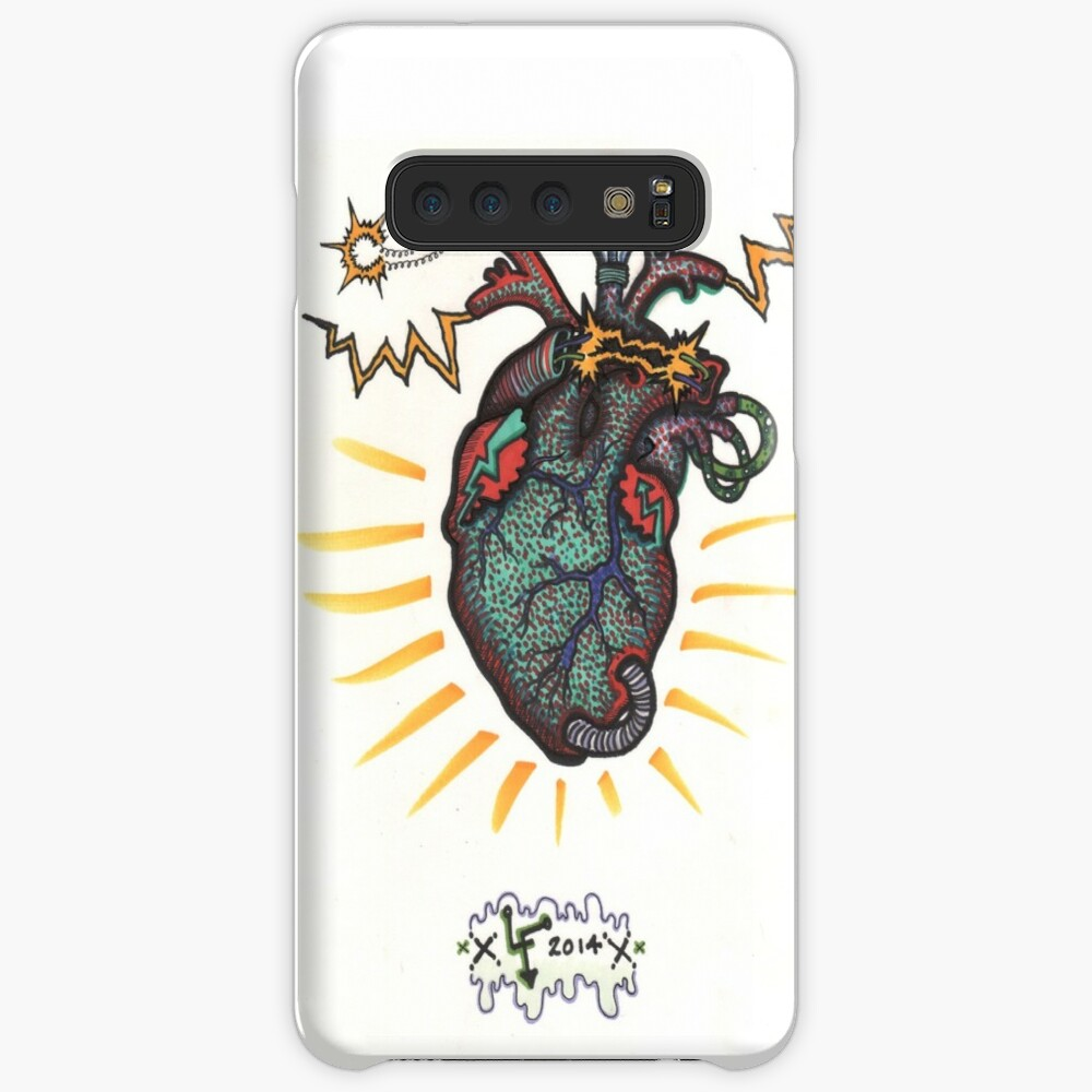SHOCKING! The Electric Heart - COLOR VERSION Case & Skin for Samsung Galaxy