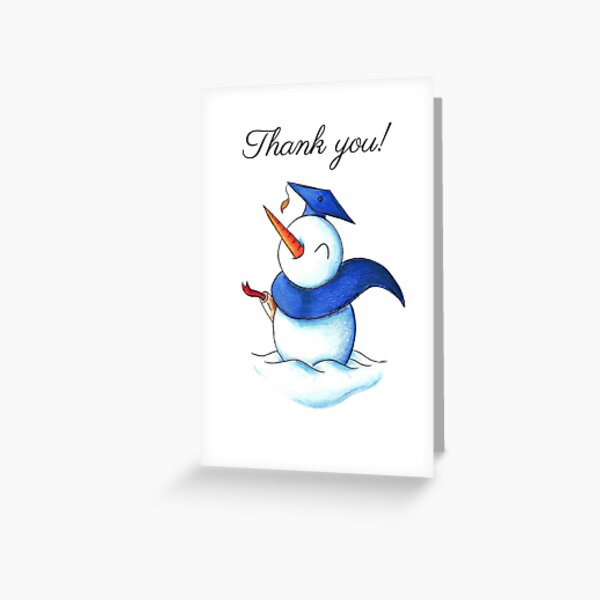 Snowgrad (Thank You Card) Greeting Card