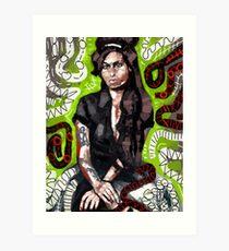 Amy in Green Art Print