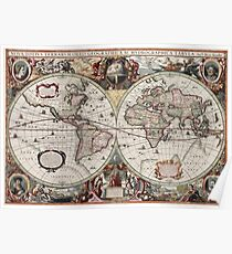 Vintage Maps Of The World Poster