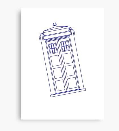 Blue box outline Canvas Print