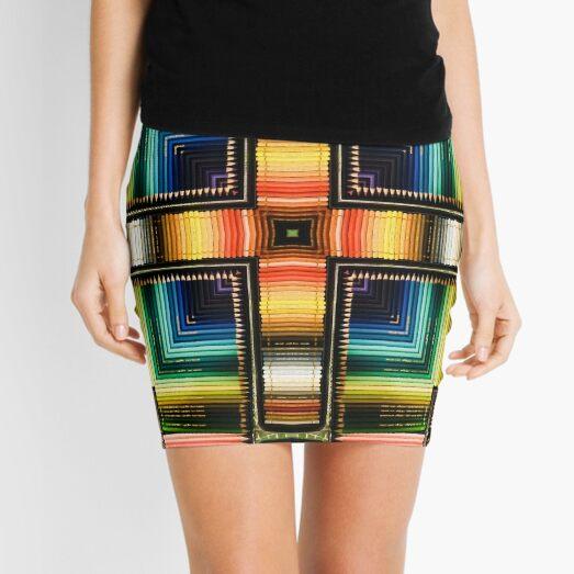 Graphite Rainbow Mini Skirt