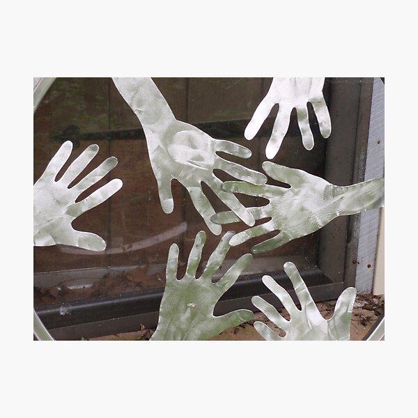Tom Wuchina's Hands Photographic Print