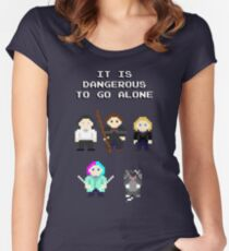 Team Dresden: It is dangerous to go alone Women's Fitted Scoop T-Shirt