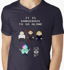 Team Dresden: It is dangerous to go alone Men's V-Neck T-Shirt