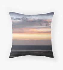 Fylde Coast Sunset Throw Pillow