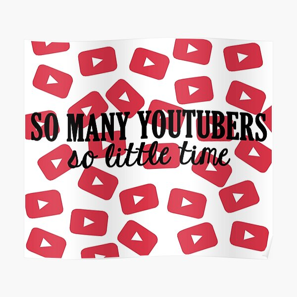 So Many Youtubers Poster
