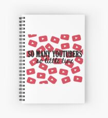 So Many Youtubers Spiral Notebook