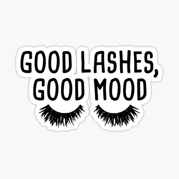 Gute Wimpern, gute Laune Sticker