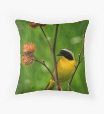 Common YellowThroat Warbler 8 Throw Pillow