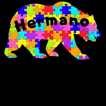 Hermano Bear Latino Autism Awareness Spanish Mexican Autism Awareness matching cute puzzle bear design for family light it up blue support autistic asperger by bulletfast