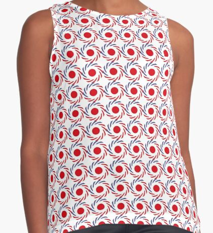 Japanese American Multinational Patriot Flag Series Sleeveless Top