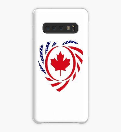 Canadian American Multinational Patriot Flag Series (Heart) Case/Skin for Samsung Galaxy