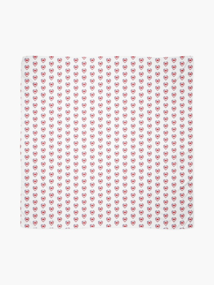 Alternate view of Canadian American Multinational Patriot Flag Series (Heart) Scarf
