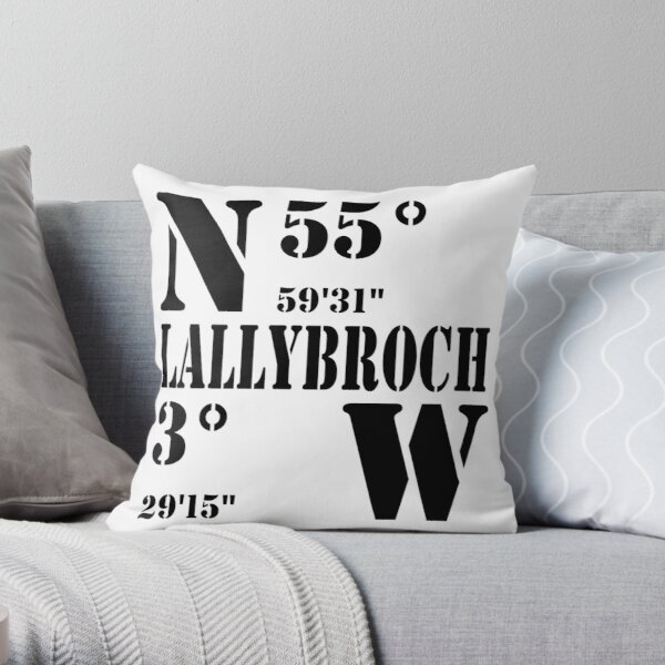 Lallybroch Throw Pillow