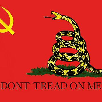 Linke libertäre Gadsden-Flagge von dru1138