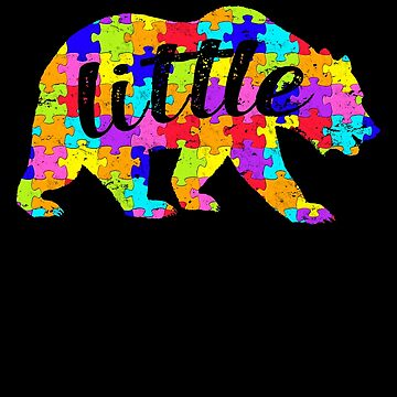 Little Bear Matching Puzzle Family Autism Awareness Month Autism Awareness matching cute puzzle bear design for family light it up blue support autistic asperger by bulletfast