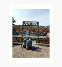 Hope Outdoor Gallery Graffiti Park Art Print