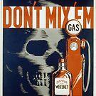 """Don't Mix 'Em"" 1936 American Anti-Drunk Driving Propaganda Poster by dru1138"