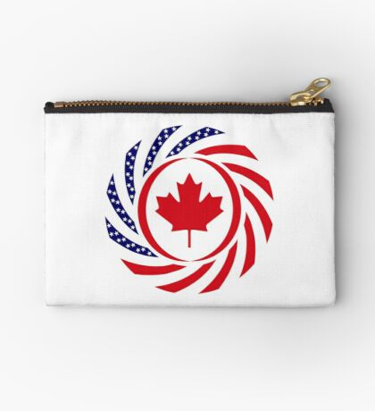 Canadian American Multinational Patriot Flag Series Zipper Pouch