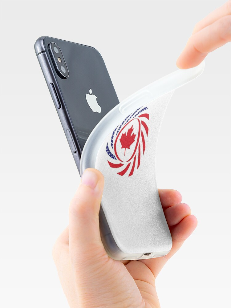 Alternate view of Canadian American Multinational Patriot Flag Series iPhone Case & Cover