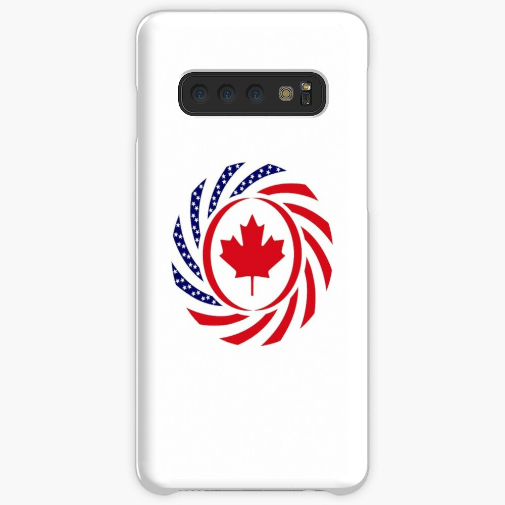 Canadian American Multinational Patriot Flag Series Case & Skin for Samsung Galaxy