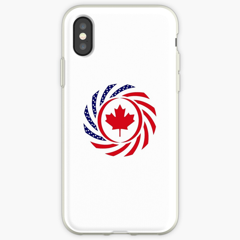 Canadian American Multinational Patriot Flag Series iPhone Case & Cover