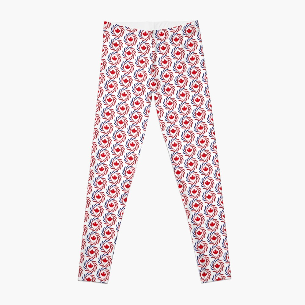 Canadian American Multinational Patriot Flag Series Leggings