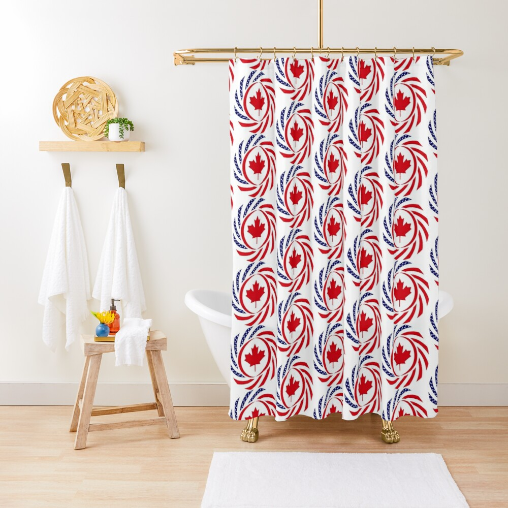 Canadian American Multinational Patriot Flag Series Shower Curtain